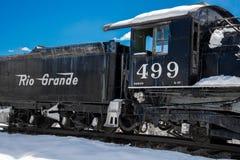 Античный поезд Рио Гранде стоковая фотография