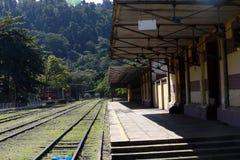 античный поезд станции Стоковое Изображение