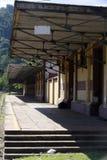 античный поезд станции Стоковое фото RF