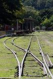 античный поезд станции Стоковые Фотографии RF
