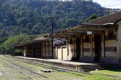 античный поезд станции Стоковое Фото
