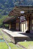 античный поезд станции Стоковые Изображения