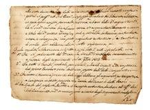 Античный почерк Стоковая Фотография RF