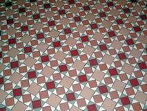 Античный пол картины керамической плитки Стоковое Изображение