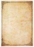 античный пустой сбор винограда бумаги граници стоковое изображение rf