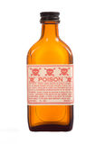 античный рецепт коричневого цвета бутылки Стоковые Изображения RF