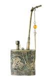 античный серебр трубы опиума нефрита Стоковое Изображение