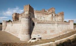 Античный средневековый замок средневеково campo del medina Испания стоковые изображения rf
