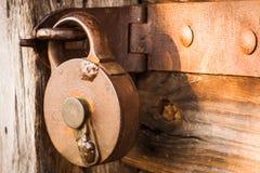 античный старый padlock Стоковое Изображение