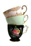античный стог чашек стоковые изображения