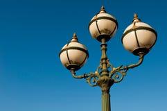 античный столб светильника Стоковые Изображения