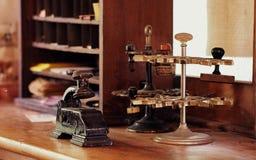 Античный стол железнодорожной станции Стоковые Фото