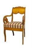 Античный стул Biedermeier с и деревянный высекать Стоковая Фотография