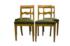 Античный стул Biedermeier с подлинной тканью Стоковое фото RF