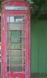 античный телефон будочки Стоковые Фотографии RF