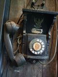 античный телефон стоковое изображение