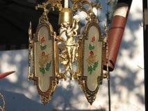античный темный сбор винограда светильника зеленого цвета зарева стола Стоковое Изображение