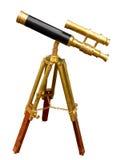 античный телескоп Стоковая Фотография RF