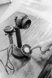 античный телефон подсвечника Стоковое Изображение