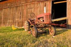 античный трактор Стоковое Фото