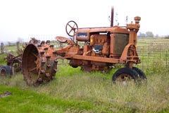 античный трактор Стоковая Фотография