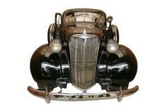 античный черный автомобиль старый Стоковые Изображения