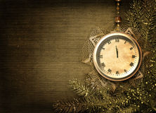 античный шнурок firtree стороны часов Стоковое Изображение