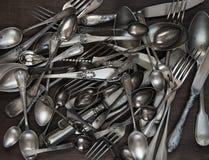 античный silverware Стоковое фото RF
