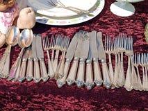 античный silverware cutlery Стоковые Изображения RF