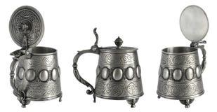 Античный tankard пива певтера Стоковое Изображение