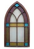 античным окно запятнанное стеклом стоковое изображение rf