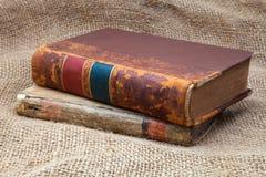 2 античных книги Стоковая Фотография RF
