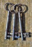 3 античных ключа Стоковые Изображения