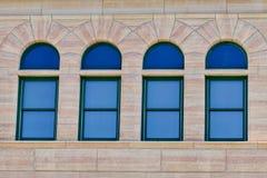 4 античных окна Стоковое Фото