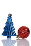 2 античных орнамента рождества Стоковые Фото