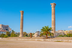 2 античных столбца Стоковое Изображение