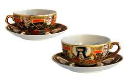 2 античных чашки фарфора Стоковое фото RF