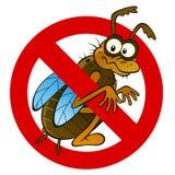 Анти- абстрактный знак насекомого Стоковые Изображения