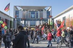 Анти- демонстрация TTIP в Берлине Стоковые Изображения RF