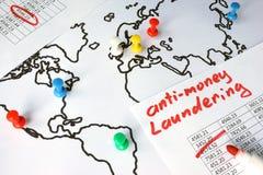 Анти--деньги laundering концепция AML стоковые фото