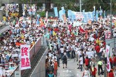 Анти--займите ралли движения в Гонконге Стоковое Изображение RF