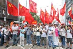 Анти--займите ралли движения в Гонконге Стоковое Изображение