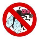 Анти- знак мухы Стоковое фото RF