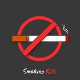 Анти- куря знак или символ на для некурящих день Стоковые Фото