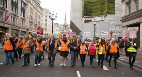 Anti government protesters at the Britain Is Broken / General Election Now demonstration in London.