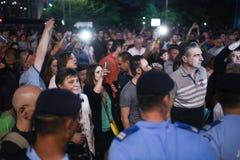 Анти- протест суда верхней части ` s Румынии, Бухарест, Румыния - 30-ое мая 20 стоковые фото
