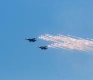 Анти--ракеты стартов реактивных самолетов войны Стоковая Фотография RF
