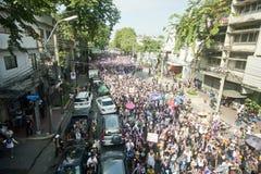 Анти- тайский протест правительства  Стоковая Фотография