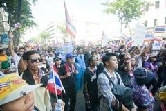 Анти- тайский протест правительства  Стоковое Изображение