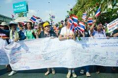 Анти- тайский протест правительства  Стоковая Фотография RF